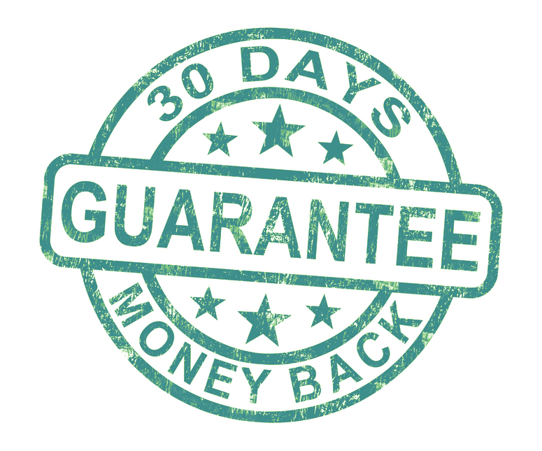 No Hassle 30 Day Money Back Guarantee