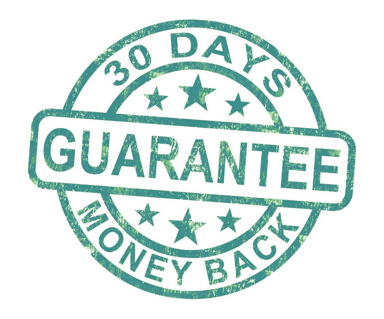 No Hassle 30 Day Money Back Guarantee