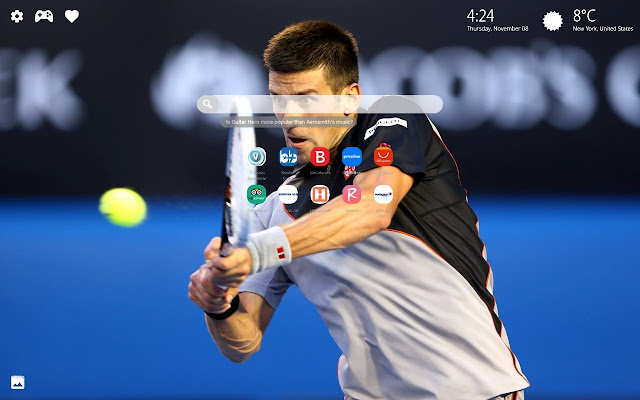 Novak Djokovic HD Wallpapers New Tab