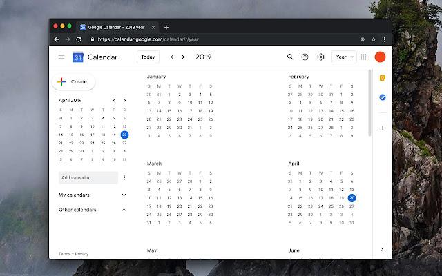 Google Calendar™ on new Tab