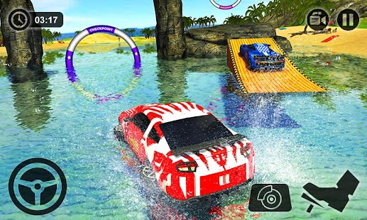 Floating Water Surfer Car Driving - Beach Racing - náhled