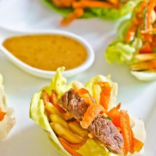 Steak Salad Lettuce Wraps.