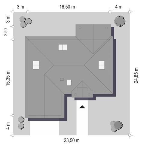 Dom na parkowej 6 - Sytuacja