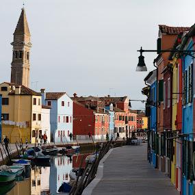 Burano by Felea Adina - City,  Street & Park  Historic Districts ( island view burano venece houses colored )