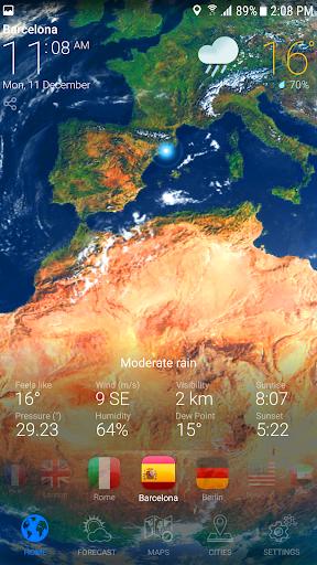 WEATHER NOW Premium US Forecast, 3D Earth & Widget  screenshots 3