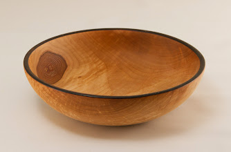 "Photo: Jeff Tate 6"" x 2"" bowl [Bradford pear]"