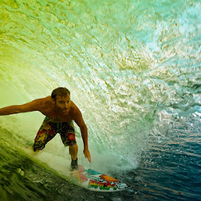 Barrel time by Trevor Murphy - Sports & Fitness Surfing ( surfing, sports, costa rica, barrel )