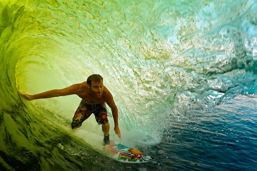 Barrel time by Trevor Murphy - Sports & Fitness Surfing ( surfing, sports, costa rica, barrel )
