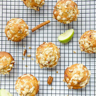 Healthy Apple, Oat And Pecan Muffins.