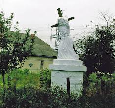 Photo: Odrestaurowana figura autorstwa Antoniego Suchorowskiego z 1933, fot. E. Wójtowicz w lipcu 2002.