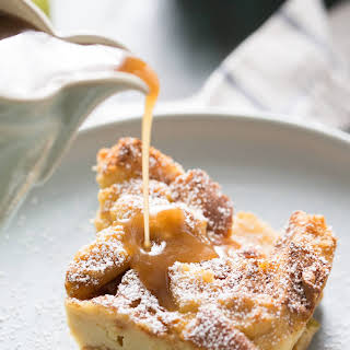 Apples Foster Bread Pudding.