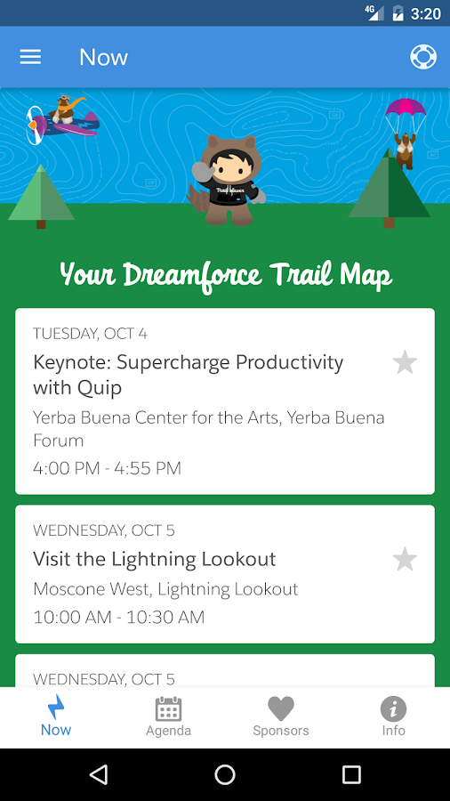 Salesforce Events- screenshot