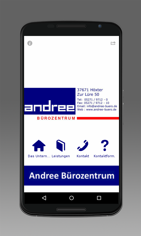 Andree Bürozentrum GmbH- screenshot