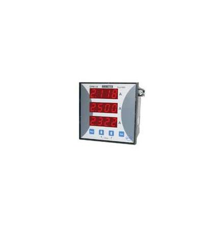 Amperemeter digital, 4-siffrig, 3-fas, 96x96mm