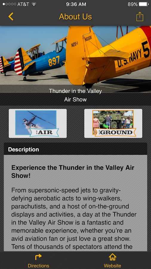 Thunder in the Valley Air Show- screenshot