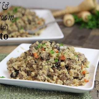 Beef and Mushroom Parsnip Risotto (AIP-friendly!).