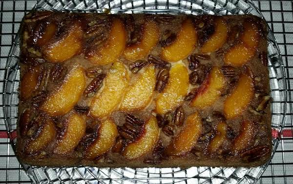 Peach & Pecan Upside Down Cake