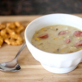 Corn and Hot Dog Chowder