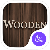 Wooden theme for APUS Launcher