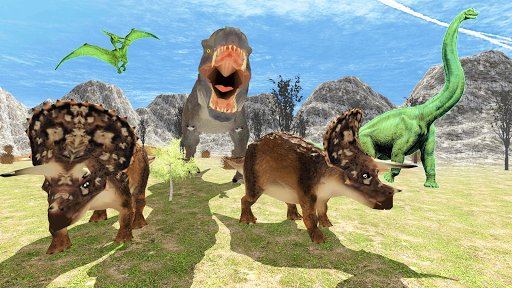 Télécharger Hungry Dinosaur Games Simulator Dino Attack 3D mod apk screenshots 3