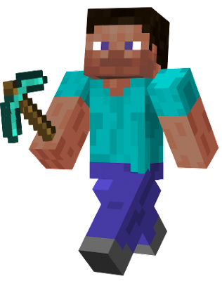 The classic Steve skin found in Bedrock edition. It has slight differences which makes it match the recent Texture Update more-so than the old. Remember that this is the original skin from the original uploader!