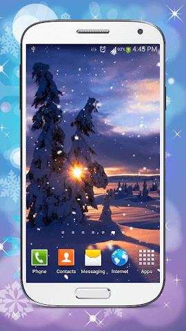 android Hiver Fond D'écran Animé Screenshot 4