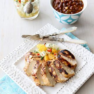 Grilled Chicken Recipe with Jicama & Orange Salsa Recipe