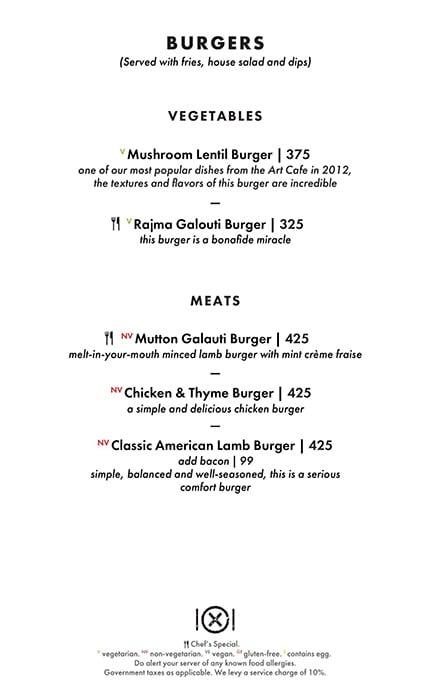 Dirty Apron menu 2