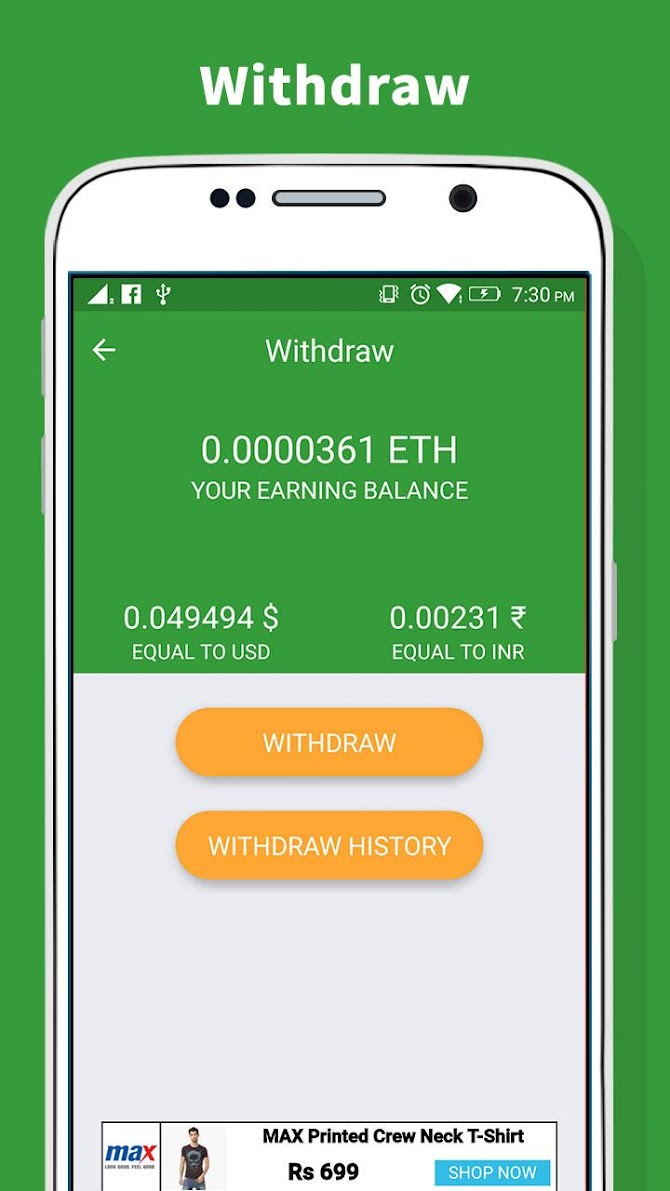 Ethereum Miner - Earn Free ETH Android 2