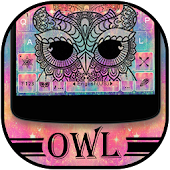 Colorful Owl Keyboard Theme