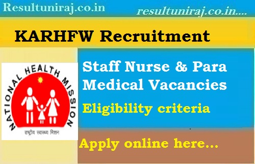 KARHFW Recruitment 2019