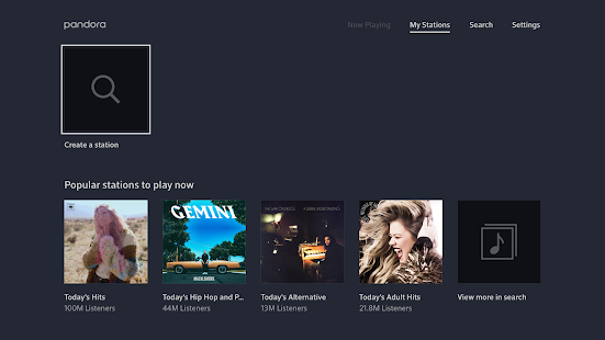 Pandora Music for TV- screenshot thumbnail