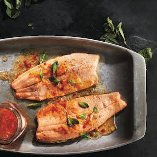 Sweet and Spicy Grilled Rainbow Trout.
