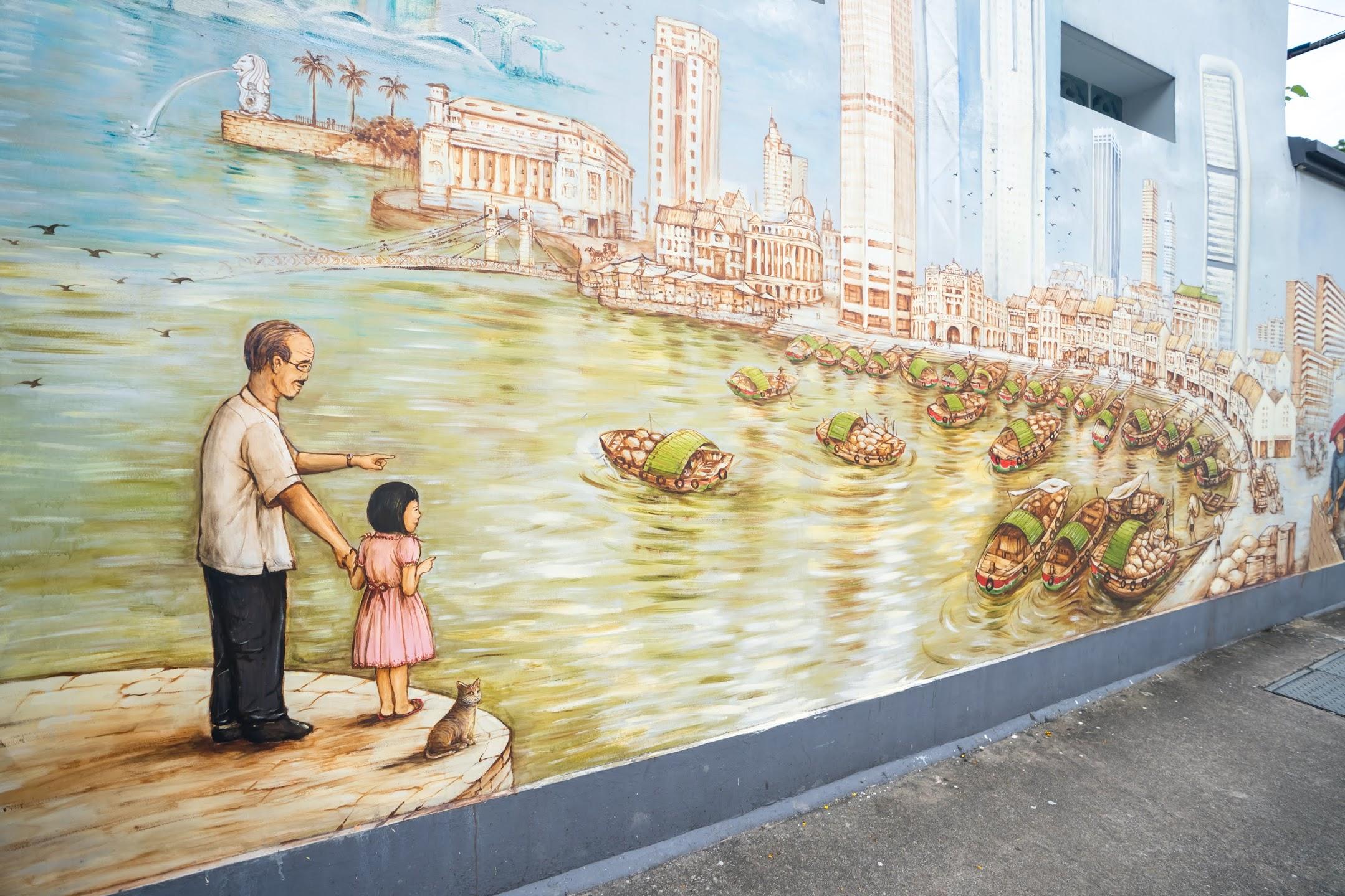 シンガポール チャイナタウン ウォールアート4