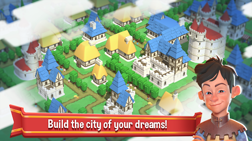 Crafty Town - Kingdom Builder  captures d'u00e9cran 1