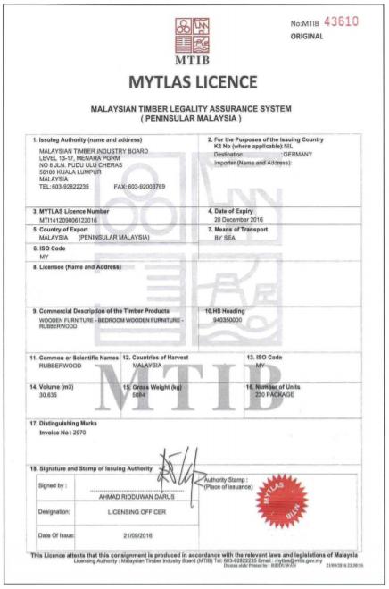 MYTLAS MTIB permit
