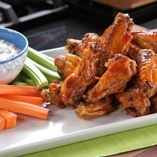 Bobby's Buffalo Wings with Tangy Cheese Dip.