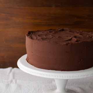 Chocolate Cake with Fleur de Sel Caramel Filling