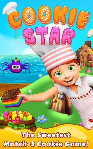 Cookie Star: Sugar cake puzzle match-3 game apktram screenshots 1
