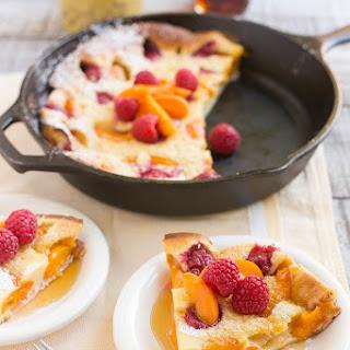Apricot Raspberry Dutch Baby Pancake