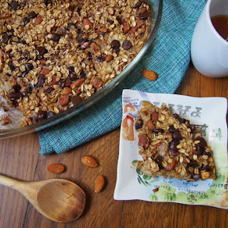 Pear and Dark Chocolate Baked Oatmeal