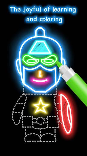 Draw Glow Cartoon - How to draw 1.0.9 screenshots 5