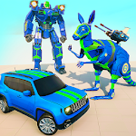 Kangaroo Robot Car Transformation: Prado Robot War icon