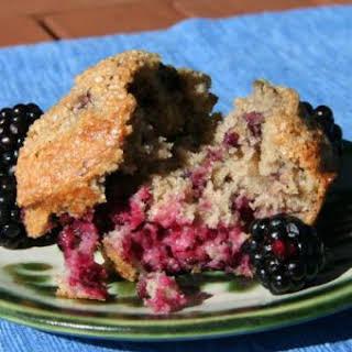 Oat Bran Blackberry Muffins.