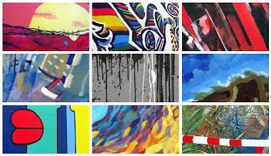 Photo: Graffiti at Eastside Gallery. Composition of nine shots at different lengthscales (Lines)