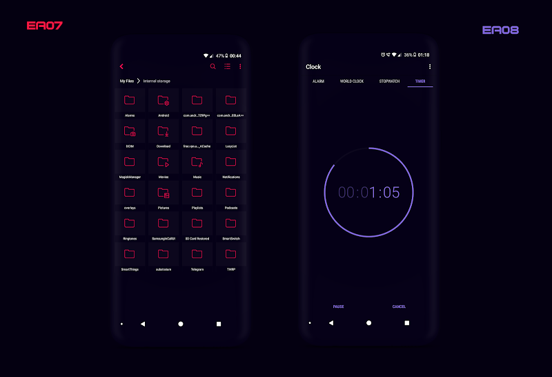 PitchBlack S╶ Samsung Substratum Theme Oreo/One Ui Screenshot 11
