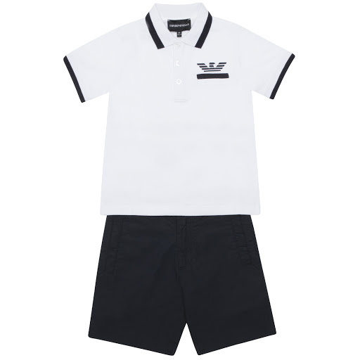 Primary image of Emporio Armani Polo & Short Set