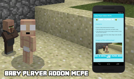 Baby Player Addon MCPE for PC