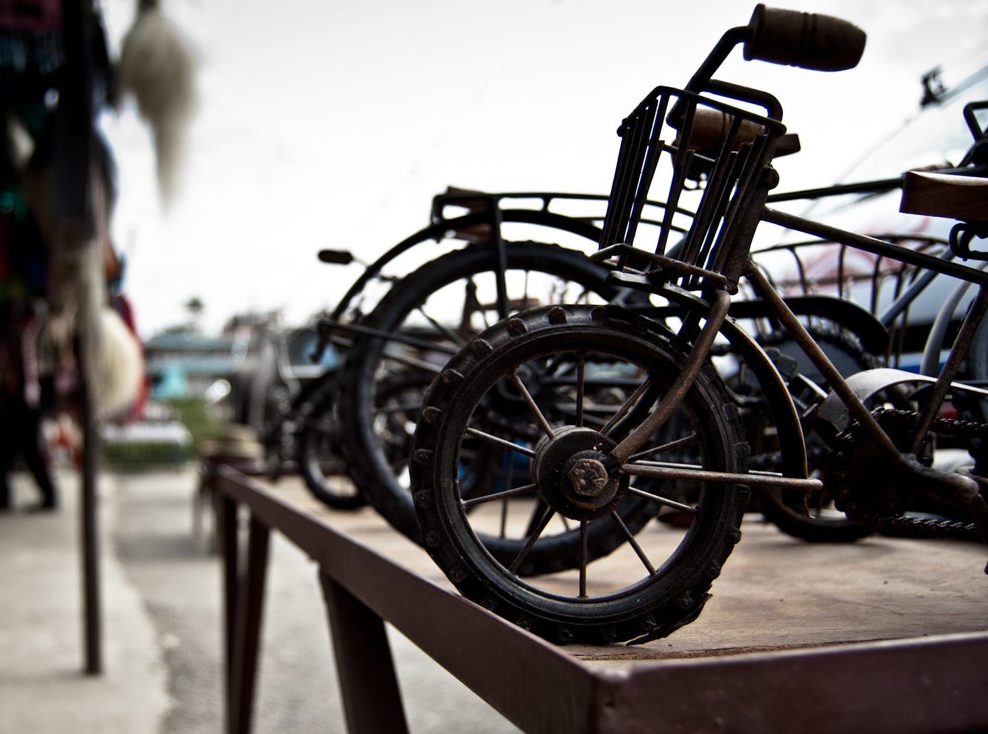 Photo: A Little Too Small Maybe  Toy metal bikes, by the streets of Pokhara, Nepal.  For #ToyTuesday curated by +Lars Pixel Clausen .