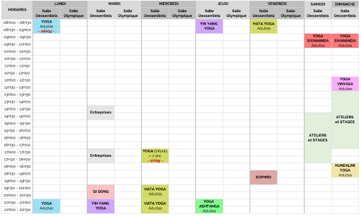 Planning OStudio Pilates